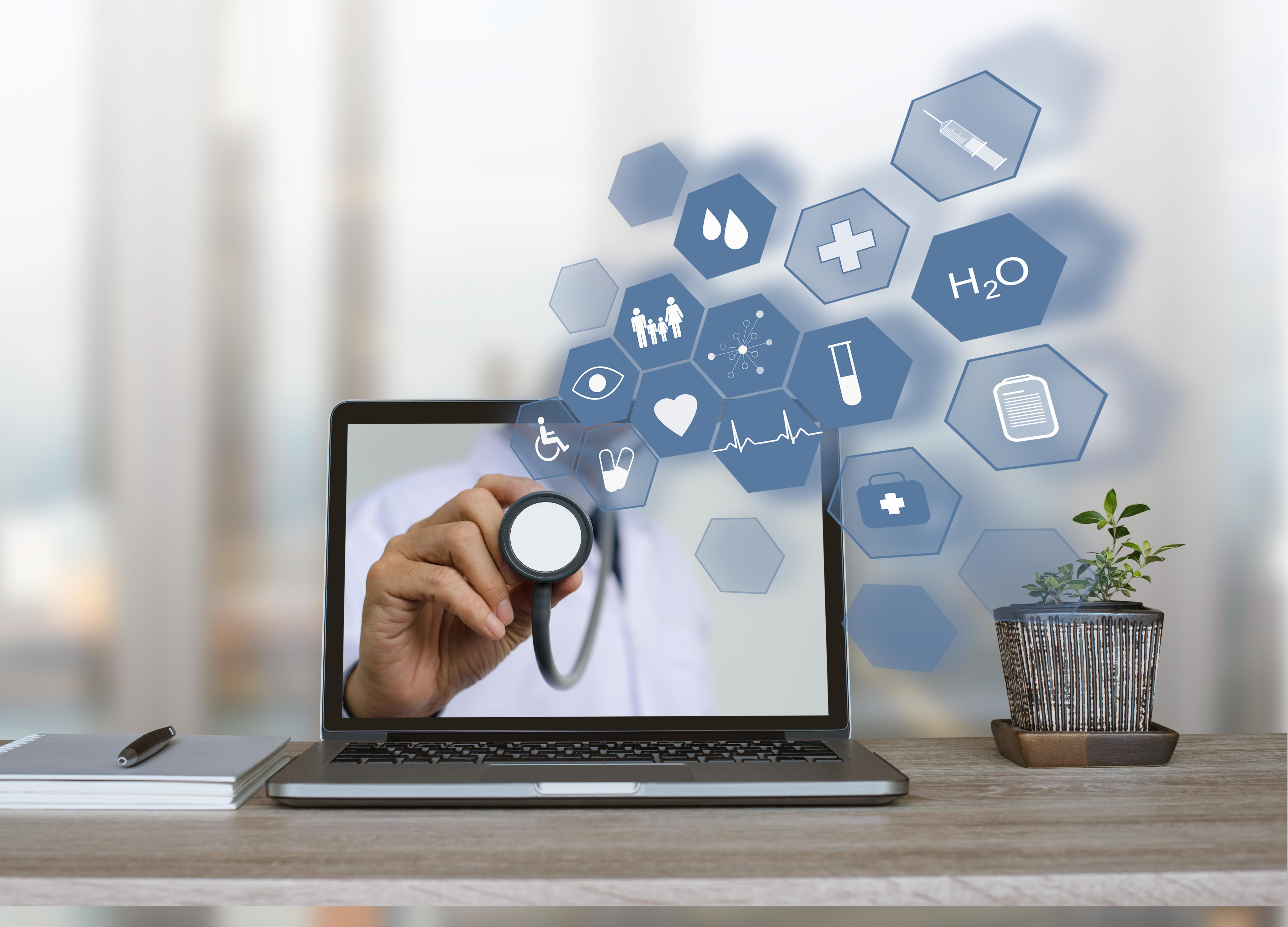 telemedicine – laptop – telehealth